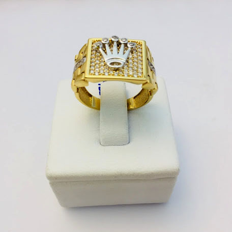Servicio Personalizar Insignia Grabable Gratis Caja de Regalo GoldChic Jewerly Dorado Anillo Abierto 26 Inicial Letras A-Z con ba/ño de Oro